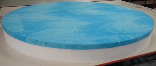 "Picture of 72"" Round Foam Mattress"