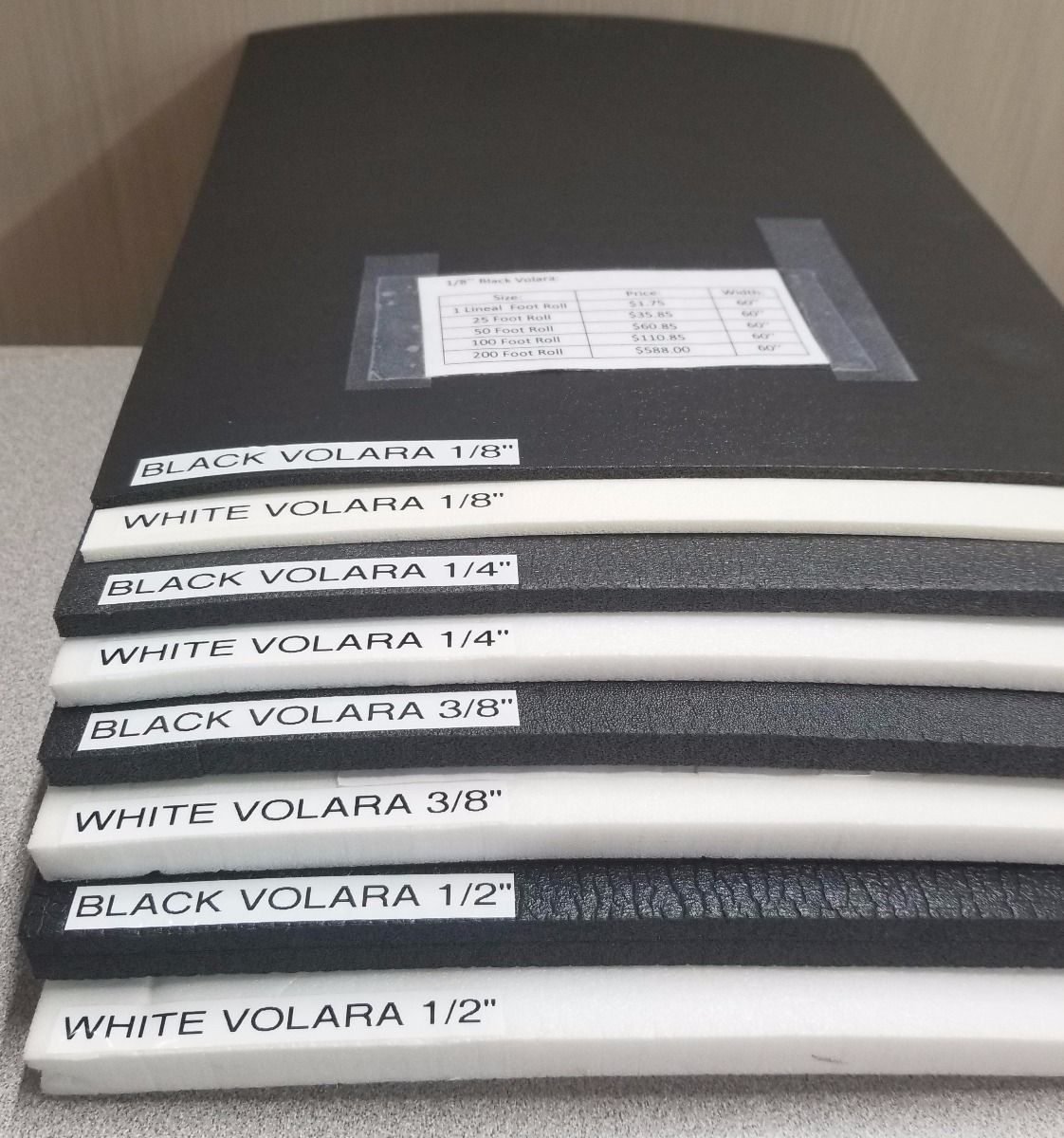Picture of Volara With Adhesive Backing