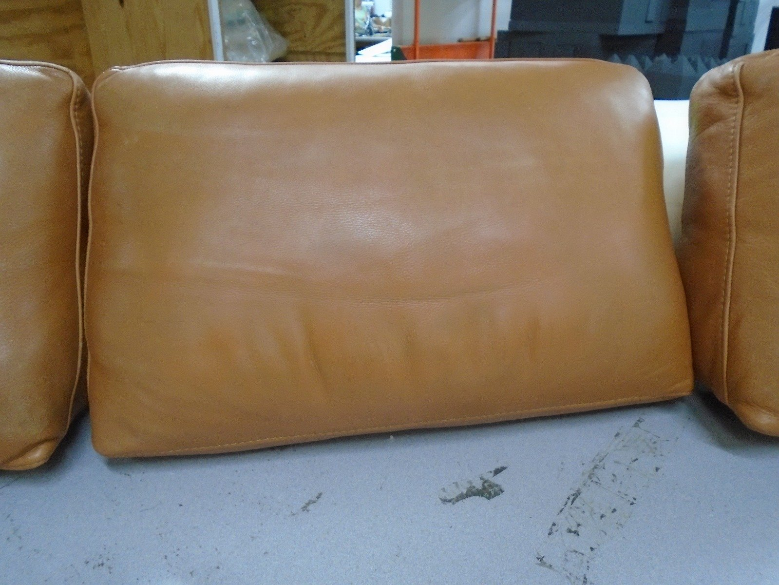 poly fill filling back cushion leather