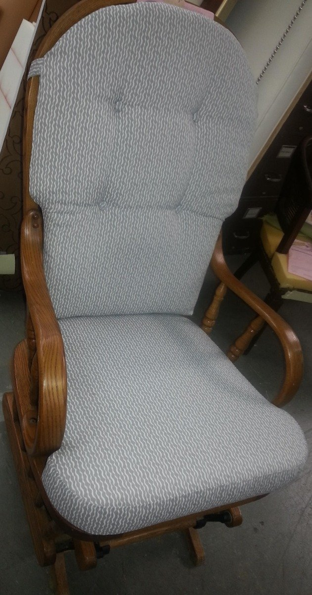 Rocking Chair with ties and buttons